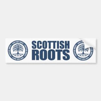 Raíces escocesas etiqueta de parachoque