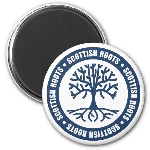 Raíces escocesas imán de frigorifico