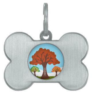 Raíces genéticas del árbol de los antecedentes placas de nombre de mascota