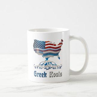 Raíces griegas americanas taza