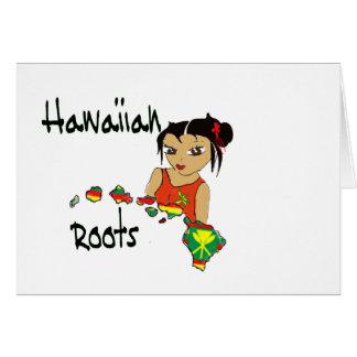 Raíces hawaianas felicitación