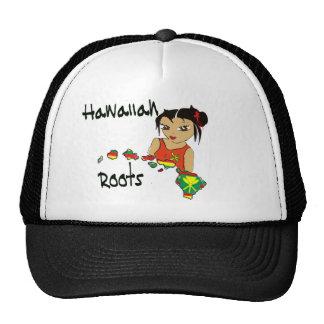 Raíces hawaianas gorros bordados