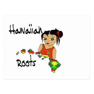 Raíces hawaianas postal