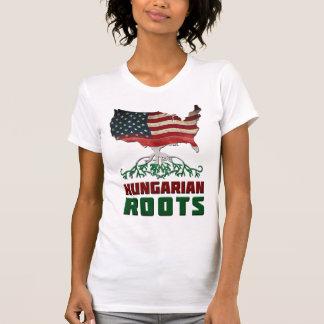 Raíces húngaras americanas camiseta