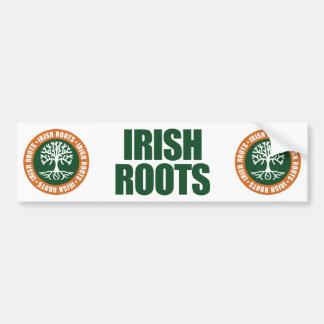 Raíces irlandesas pegatina de parachoque