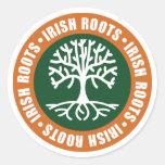 Raíces irlandesas pegatinas redondas