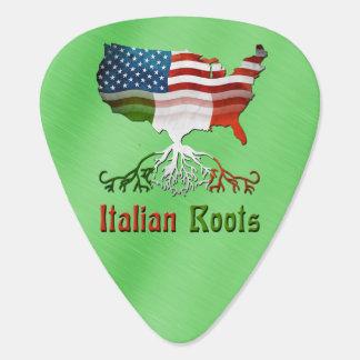 Raíces italianas americanas plectro