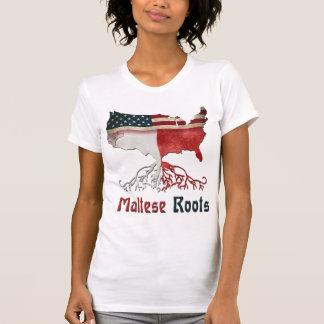 Raíces maltesas americanas camiseta