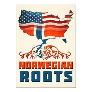Raíces noruegas americanas invitaciones personalizada