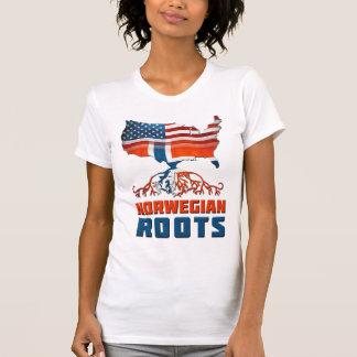 Raíces noruegas americanas camisetas