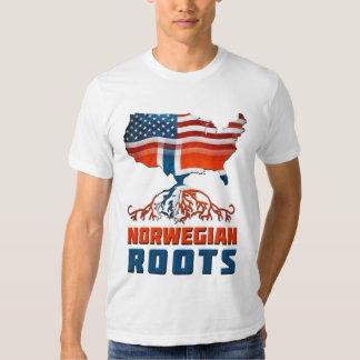 Raíces noruegas americanas remeras