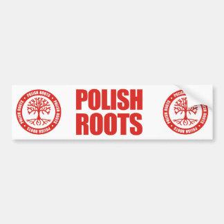 Raíces polacas etiqueta de parachoque