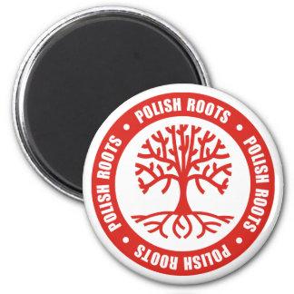 Raíces polacas imán redondo 5 cm