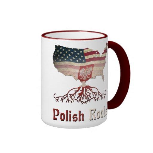 Raíces polacas, taza americana del mapa