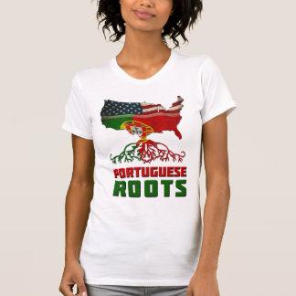 Raíces portuguesas americanas camiseta