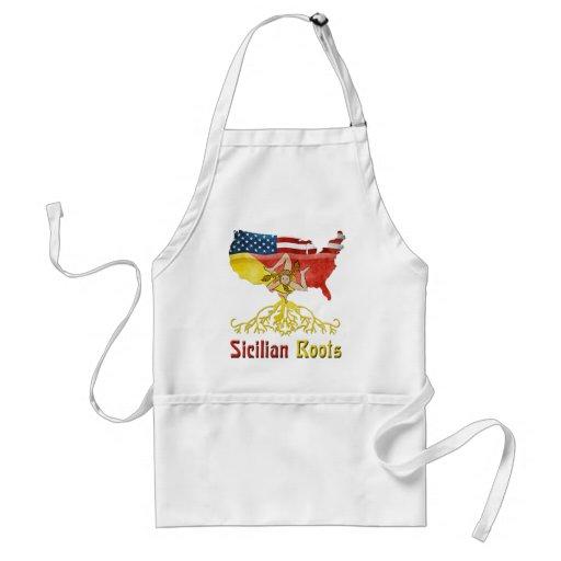 Raíces sicilianas americanas delantal
