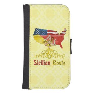 Raíces sicilianas americanas fundas billetera para teléfono