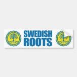 Raíces suecas pegatina de parachoque