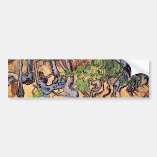Raíces y troncos (F816) del árbol de Van Gogh Pegatina Para Auto