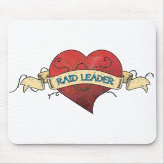 RAID LEADER Tattoo - Heart Mouse Pad