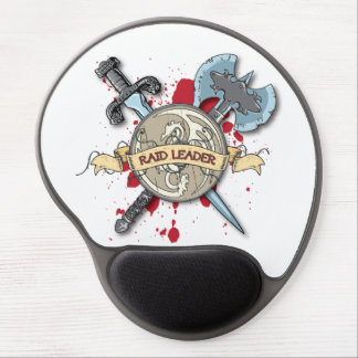 RAID LEADER Tattoo - Sword, Axe, and Shield Gel Mouse Pad