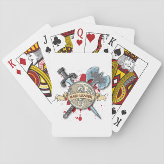 RAID LEADER Tattoo - Sword, Axe, and Shield Deck Of Cards