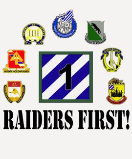 Raiders First! Ladies 3/4 Sleeve Raglan T Shirt