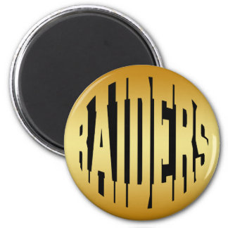 RAIDERS - GOLD TEXT MAGNET