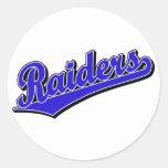 Raiders in Blue Classic Round Sticker