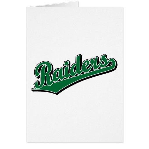 Raiders in Green Greeting Card