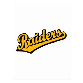 Raiders in Orange Postcard