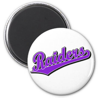 Raiders in Purple Magnet