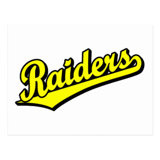 Raiders in Yellow Postcard