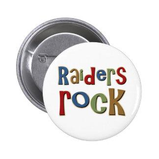 Raiders Rock Pinback Buttons