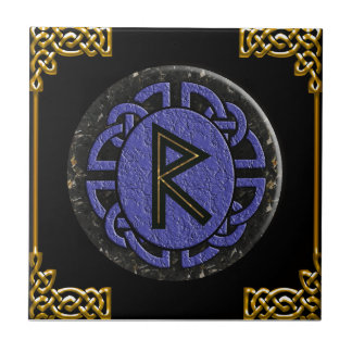"""raidho"" elder futhark tile"
