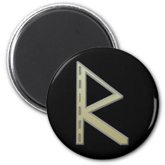 Raidho Rune gold Magnet