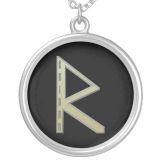 Raidho Rune gold Silver Plated Necklace