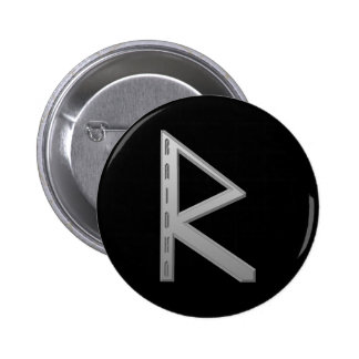Raidho Rune grey Button