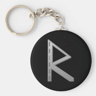 Raidho Rune grey Keychain