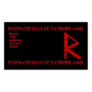 Raidho Rune red Double-Sided Standard Business Cards (Pack Of 100)
