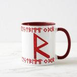 Raidho Rune red Mug