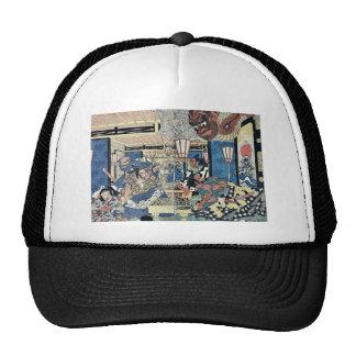 Raikō and the earth spider by Utagawa,Kuninaga Trucker Hat
