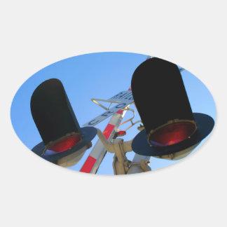 Rail Cro Oval Stickers