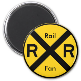 Rail Fan 2 Inch Round Magnet