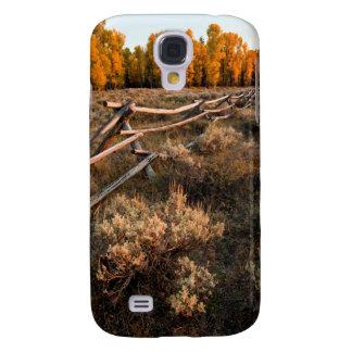 Rail Fence Across Sage Brush In Grand Teton Samsung Galaxy S4 Case