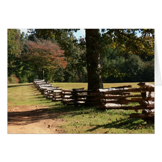 Rail Fence Card
