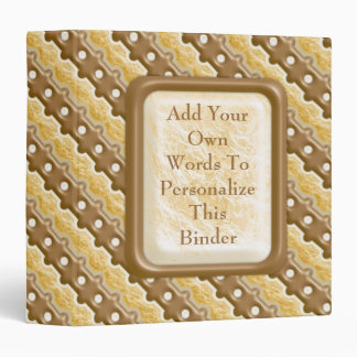 Rail Fence - Chocolate Marshmallow 3 Ring Binder