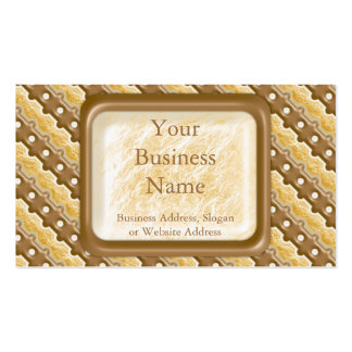 Rail Fence - Chocolate Marshmallow Business Card