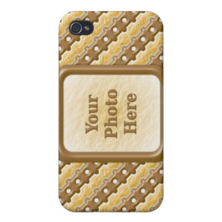 Rail Fence - Chocolate Marshmallow iPhone 4 Cases