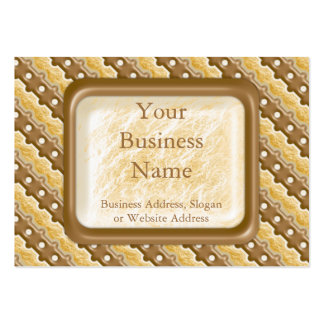 Rail Fence - Chocolate Marshmallow Large Business Card